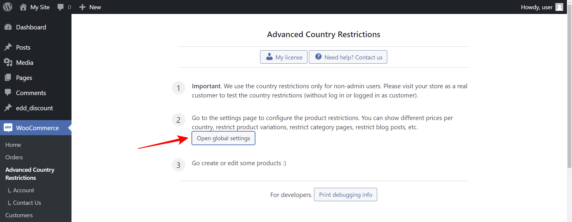 woocommerce hide prices by country