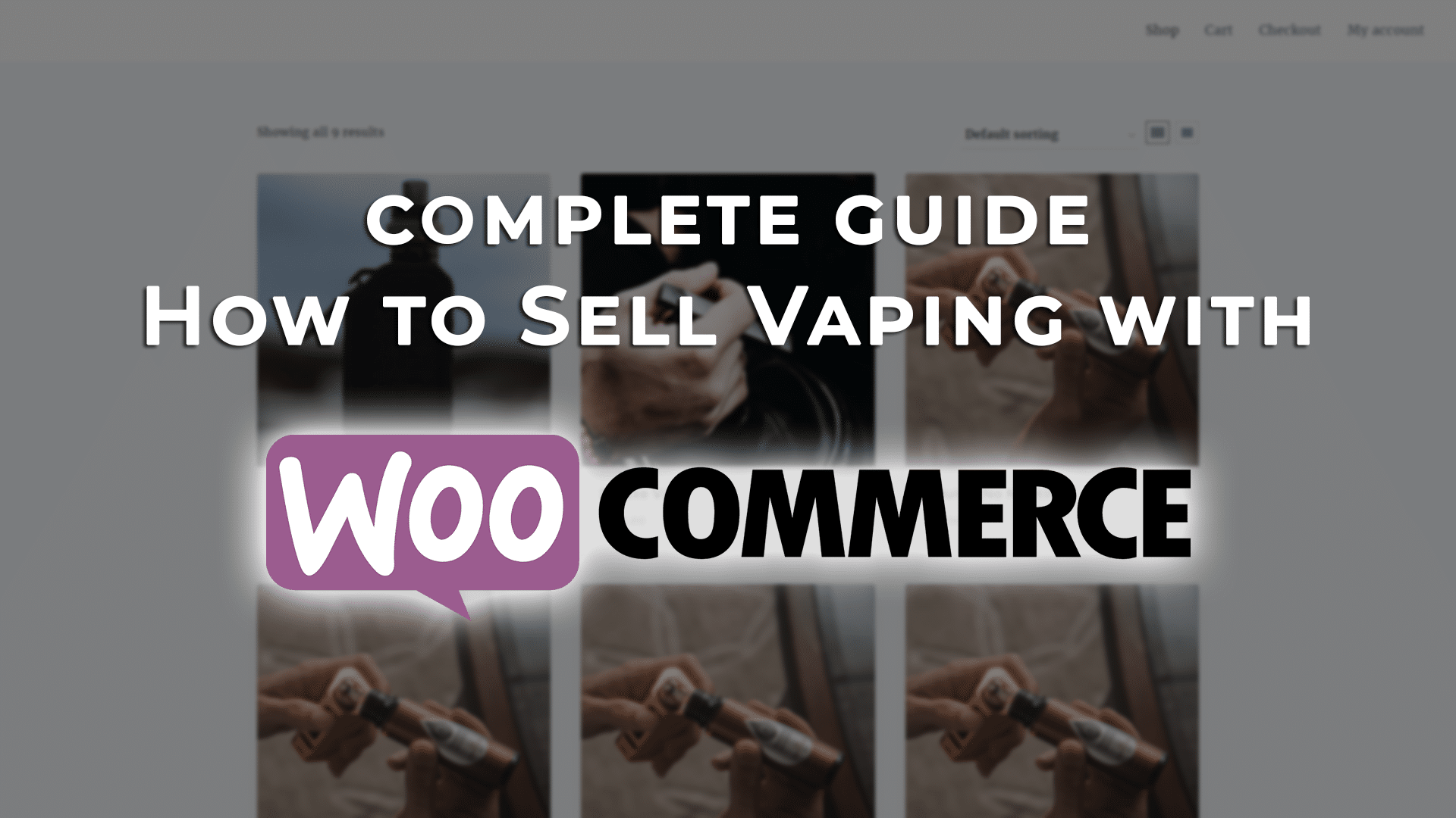 sell vaping with woocommerce