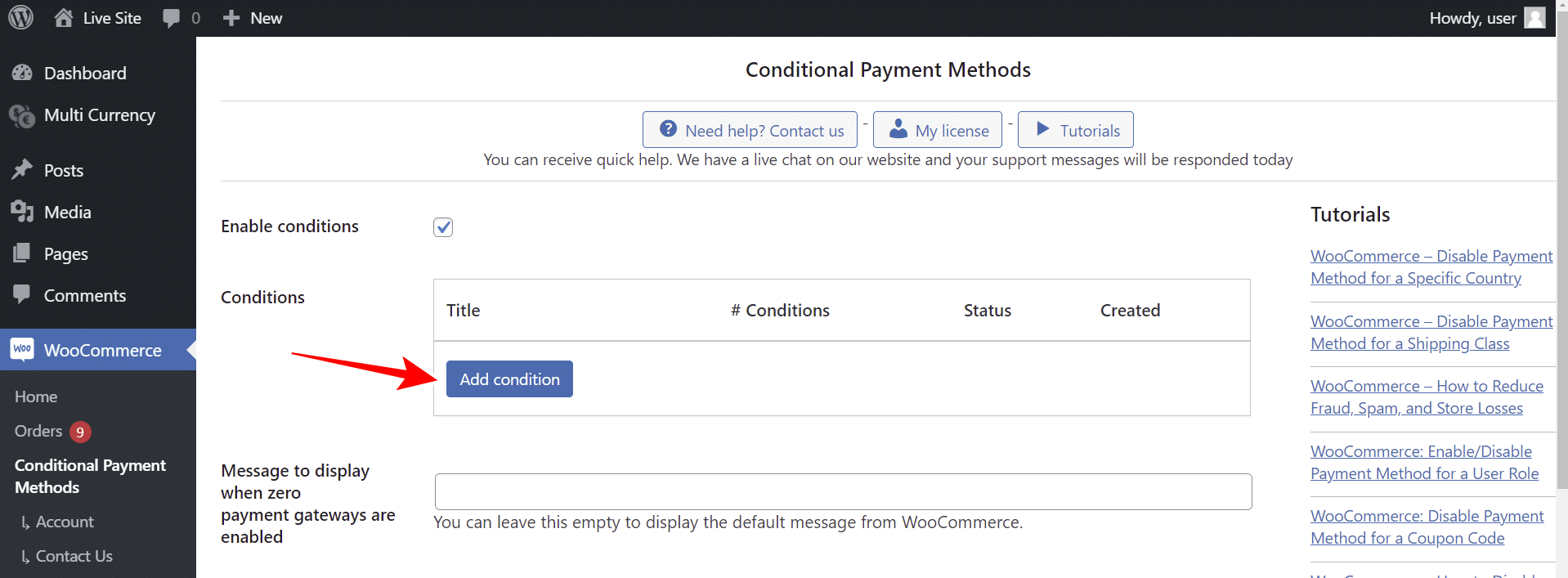 woocommerce disable payment gateways based on currency