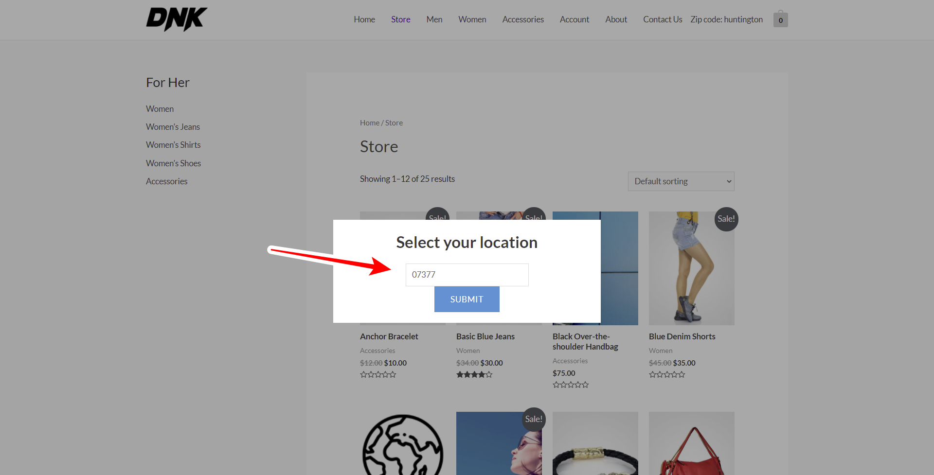 woocommerce restrict coupons by zip code