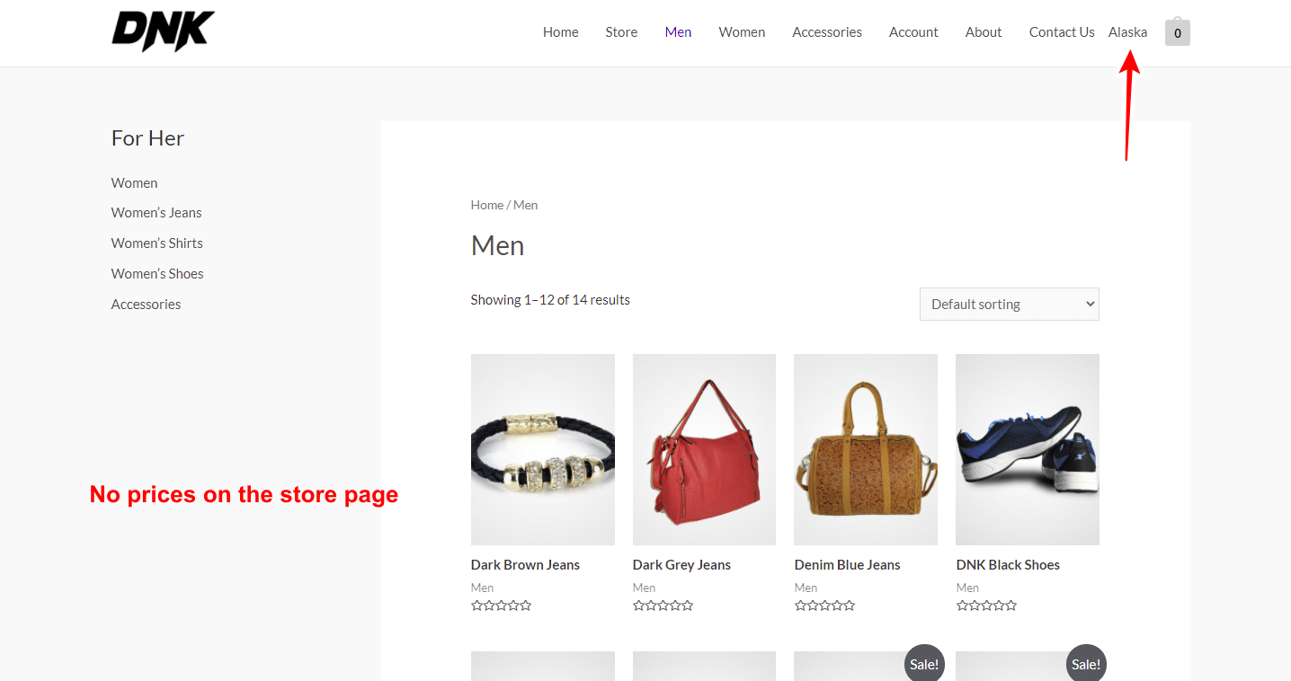 woocommerce hide prices by state